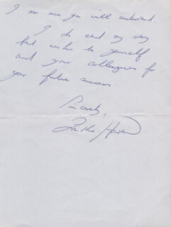 FRANKIE HOWERD - AUTOGRAPH LETTER SIGNED
