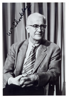 Autographs: WILLIAM SHOCKLEY - INSCRIBED PHOTOGRAPH SIGNED