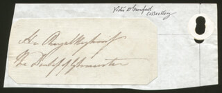 PRINCESS AUGUSTA SOPHIA (GREAT BRITAIN) - AUTOGRAPH