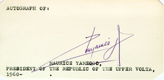 Autographs: MAURICE YAMEOGO - TYPED CARD SIGNED