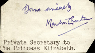Autographs: MARTIN (BARON CHARTERIS OF AMISFIELD) CHARTERIS - CLIPPED SIGNATURE