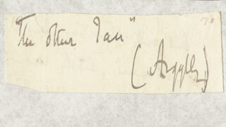 JOHN (9TH DUKE OF ARGYLL) CAMPBELL - AUTOGRAPH FRAGMENT SIGNED