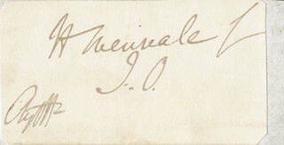 GEORGE DOUGLAS (8TH DUKE OF ARGYLL) CAMPBELL - FREE FRANK SIGNED