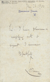 Autographs: JOHN (9TH DUKE OF ARGYLL) CAMPBELL - AUTOGRAPH LETTER DOUBLE SIGNED 01/23/1900