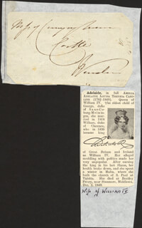 ADELAIDE OF SAXE-MEININGEN (QUEEN CONSORT OF THE UNITED KINGDOM AND OF HANOVE - AUTOGRAPH ENVELOPE UNSIGNED