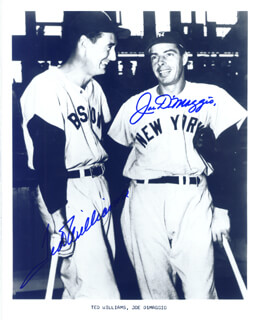 JOE DIMAGGIO - AUTOGRAPHED SIGNED PHOTOGRAPH CO-SIGNED BY: TED WILLIAMS
