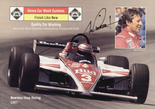 MARIO ANDRETTI - AUTOGRAPHED SIGNED PHOTOGRAPH