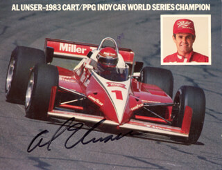 AL UNSER - PICTURE POST CARD SIGNED