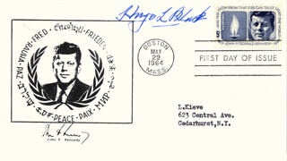 ASSOCIATE JUSTICE HUGO L. BLACK - FIRST DAY COVER SIGNED