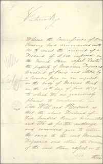 QUEEN VICTORIA (GREAT BRITAIN) - DOCUMENT SIGNED 11/15/1839