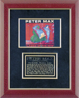 Autographs: PETER MAX - PRINTED ART SIGNED IN INK 1988
