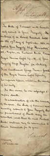 QUEEN VICTORIA (GREAT BRITAIN) - MANUSCRIPT DOCUMENT SIGNED 10/22/1860 CO-SIGNED BY: DUKE EDWARD ADOLPHUS (SOMERSET XII) SEYMOUR