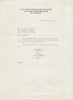 GENE TUNNEY - TYPED LETTER SIGNED 10/10/1941