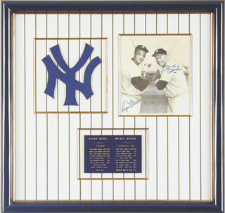 ROGER MARIS - EMUSLSIFIED PHOTO IMAGE SIGNED CO-SIGNED BY: MICKEY MANTLE