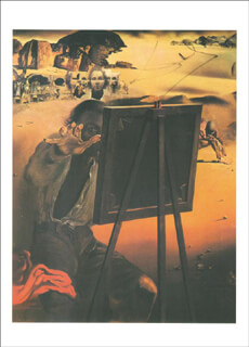 Autographs: SALVADOR DALI - PRINTED ART SIGNED IN INK