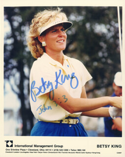 BETSY KING - AUTOGRAPHED SIGNED PHOTOGRAPH