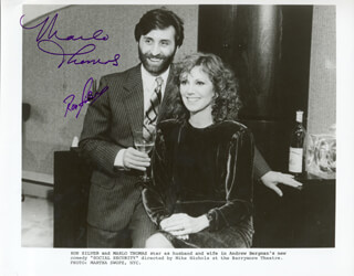 SOCIAL SECURITY BROADWAY CAST - AUTOGRAPHED SIGNED PHOTOGRAPH CO-SIGNED BY: MARLO THOMAS, RON SILVER