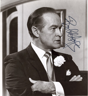 BOB HOPE - AUTOGRAPHED SIGNED PHOTOGRAPH
