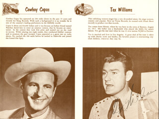 TEX WILLIAMS - MAGAZINE PHOTOGRAPH SIGNED