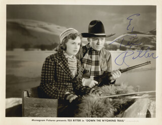TEX RITTER - AUTOGRAPHED SIGNED PHOTOGRAPH