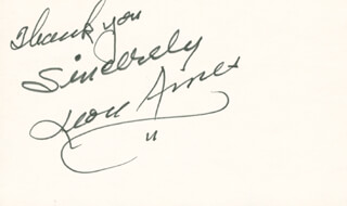 LEON AMES - AUTOGRAPH SENTIMENT SIGNED