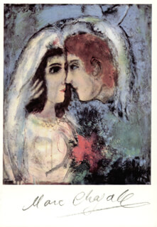 MARC CHAGALL - PICTURE POST CARD SIGNED