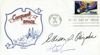 LT. COLONEL ELLISON S. EL ONIZUKA - FIRST DAY COVER SIGNED CO-SIGNED BY: CAPTAIN DAVID M. WALKER