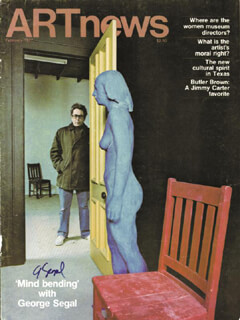 GEORGE SEGAL - MAGAZINE COVER SIGNED