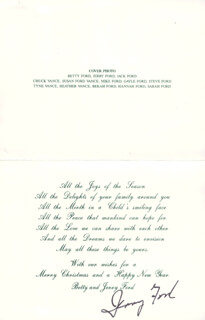 Autographs: PRESIDENT GERALD R. FORD - CHRISTMAS / HOLIDAY CARD SIGNED