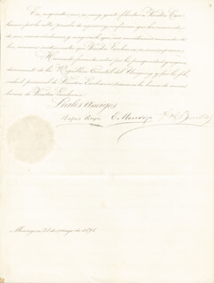 PRESIDENT RAFAEL REYES (COLOMBIA) - MANUSCRIPT LETTER SIGNED 05/28/1898
