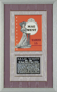 MAE WEST - PROGRAM COVER SIGNED