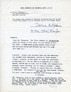 JESSICA MITFORD - DOCUMENT SIGNED 05/12/1964