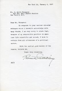 BRUNO OETTEKING - TYPED LETTER SIGNED 01/05/1957
