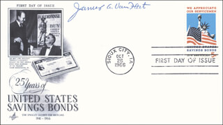 GENERAL JAMES A. VAN FLEET - FIRST DAY COVER SIGNED