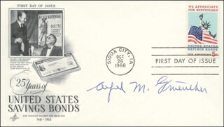 GENERAL ALFRED M. GRUENTHER - FIRST DAY COVER SIGNED