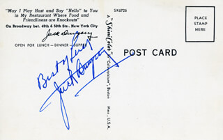 Autographs: JACK DEMPSEY - PICTURE POST CARD SIGNED