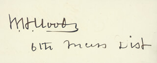 ASSOCIATE JUSTICE WILLIAM H. MOODY - AUTOGRAPH