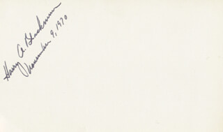 Autographs: ASSOCIATE JUSTICE HARRY A. BLACKMUN - SIGNATURE(S) 11/09/1970