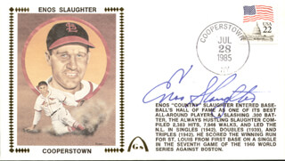 ENOS SLAUGHTER - COMMEMORATIVE ENVELOPE SIGNED