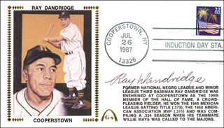 RAY DANDRIDGE - COMMEMORATIVE ENVELOPE SIGNED