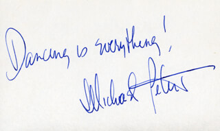 MICHAEL PETERS - AUTOGRAPH SENTIMENT SIGNED