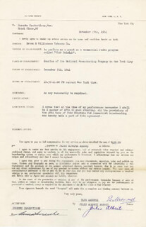 ELSA MAXWELL - CONTRACT SIGNED 11/17/1944 CO-SIGNED BY: ANNA SOSENKO