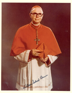 WILLIAM CARDINAL BAUM - AUTOGRAPHED SIGNED PHOTOGRAPH