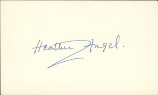 HEATHER G. ANGEL - AUTOGRAPH