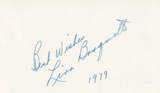 LINA BASQUETTE - AUTOGRAPH SENTIMENT SIGNED 1979