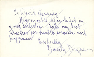 Autographs: BEVERLY BAYNE - AUTOGRAPH LETTER SIGNED