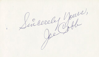 JOE COBB - AUTOGRAPH SENTIMENT SIGNED