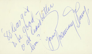 ROSEMARY DECAMP - AUTOGRAPH SENTIMENT SIGNED CIRCA 1980