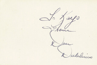 DON DUBBINS - AUTOGRAPH NOTE SIGNED