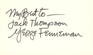 GEORGE W. FENNEMAN - AUTOGRAPH NOTE SIGNED